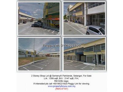2 Storey Shop @ Semenyih Parklands, Selangor