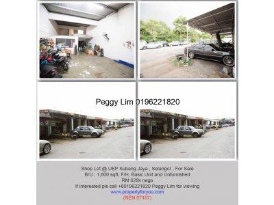 Shop Lot @ UEP Industrial Park Subang Jaya, 1600sf