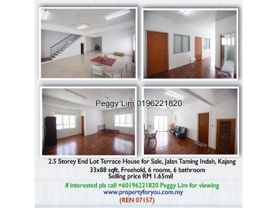 2.5 Storey Terrace House End Lot, Jalan Taming Indah, Kajang