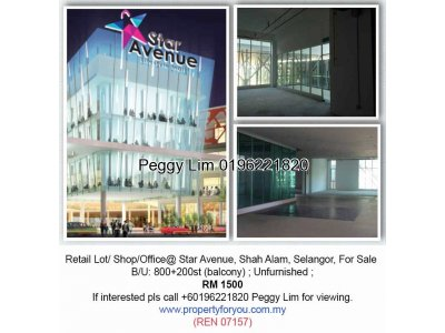 Retail Space / Lot / Office @ Star Avenue, Shah Alam