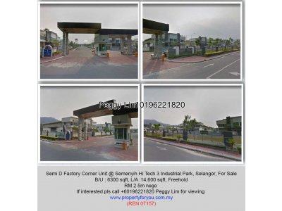 Semi D Factory Corner Unit @ Semenyih Hi Tech 3 Industrial Park