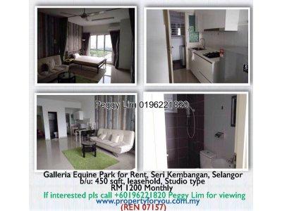 Galleria Equine Park for Rent, Seri Kembangan, Selangor