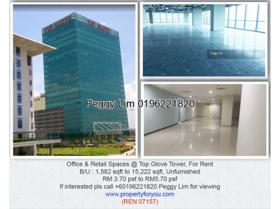 Office & Retail Space @ Top Glove Tower, Setia Alam