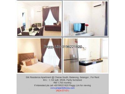 Silk Residence Apartment@Cheras South,Balakong, Selangor,1124sf