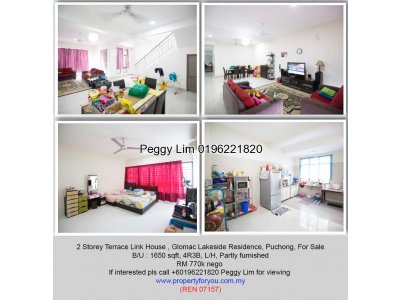 2 Storey Superlink Terrace House @ Glomac Lakeside Residence Puchong