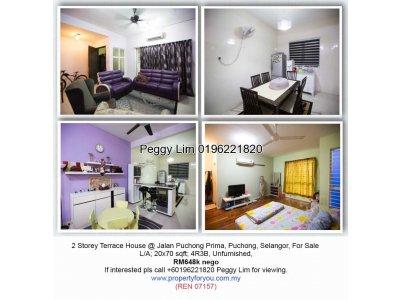 2 Storey Terrace House @ Taman Puchong Prima