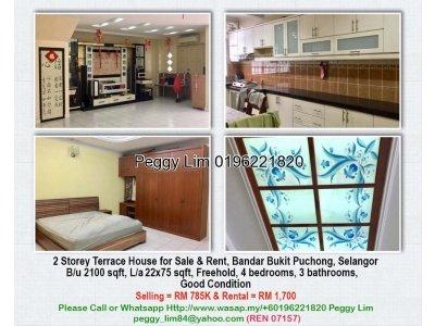 2 Storey Terrace House, Bandar Bukit Puchong, Selangor