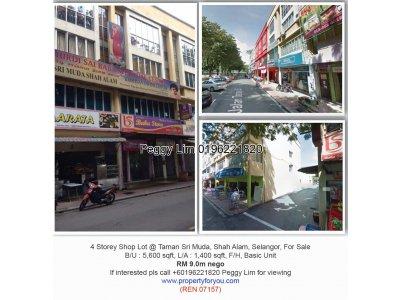 4 Storey Shop Lot @ Taman Sri Muda, Selangor