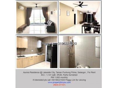 Aurora Residence @Lakeside City, Taman Puchong Prima, 1141sqft