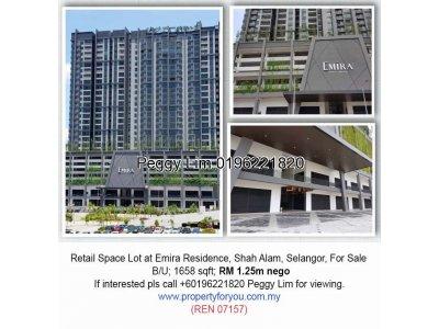 Retail Space Lot @ Emira Residence, Shah Alam
