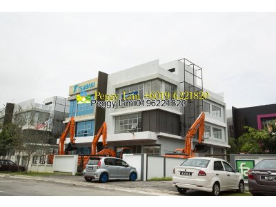 3sty Semi D Factory For Sale, I-Parc @ Bukit Jelutong Shah Alam, Selangor