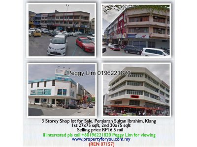 3 Storey Shop For Sale, Persiaran Sultan Ibrahim, Klang