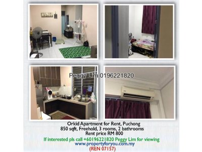 Orkid Apartment To Let, Puchong