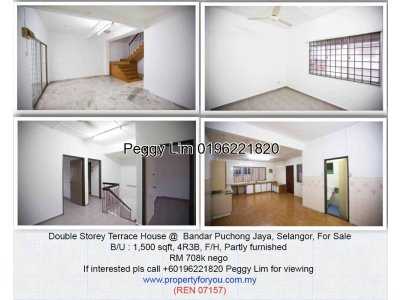 Double Storey House @ Bandar Puchong Jaya, Selangor